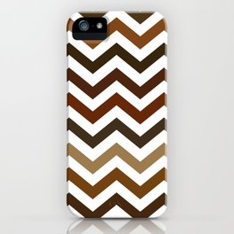 Shades of Brown Chevron Pattern iPhone Case