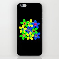 60s iPhone & iPod Skins featuring Flower Power 60s-70s by dedmanshootn