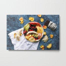 Beautiful Fruit Platter Print for Office Metal Print