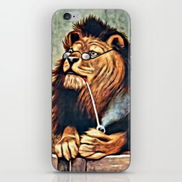 VINTAGE LION PRINT, Anthropomorphic Animals iPhone Skin
