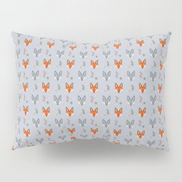 Cute Fox Pattern - Earl Grey Pillow Sham
