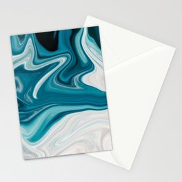 Abstract painting blue Stationery Cards