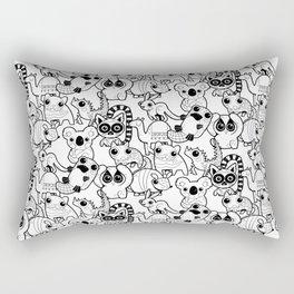 Funny Friends Black & White Pattern Rectangular Pillow