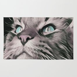 cat portrait Rug