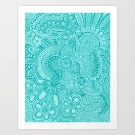 millions aqua Art Print