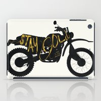 stay gold iPad Cases featuring Stay Gold by Ride The Storm