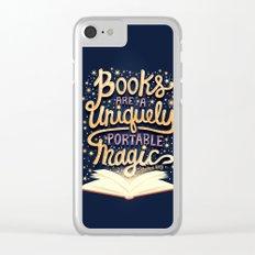Books are magic Clear iPhone Case