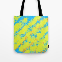 yellow blue and orange dirty painting abstract background Tote Bag