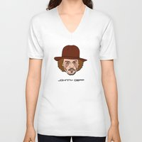 johnny depp V-neck T-shirts featuring Johnny Depp by Λdd1x7