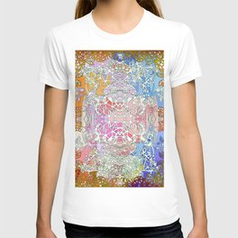 Abstract Sunset Fairy Forest T-shirt