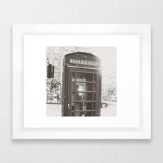 Snowy Telephone Box Framed Art Print