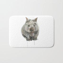 Wombat watercolour Bath Mat