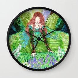 Ostara's Awakening Wall Clock