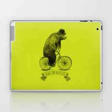 Bears on Bicycles (Lime) Laptop & iPad Skin