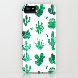 Cactus Pattern Green iPhone Case