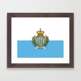 San Marino Flag Framed Art Print