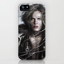 Black Wolf Fur iPhone Case
