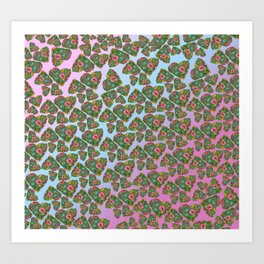 Flower`s hearts Art Print