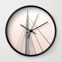 Sunset Spire Wall Clock