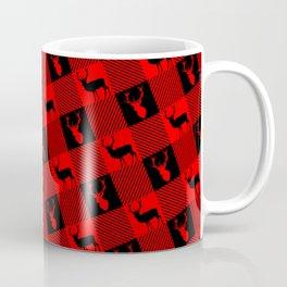 Christmas Deer Buffalo Plaid Coffee Mug