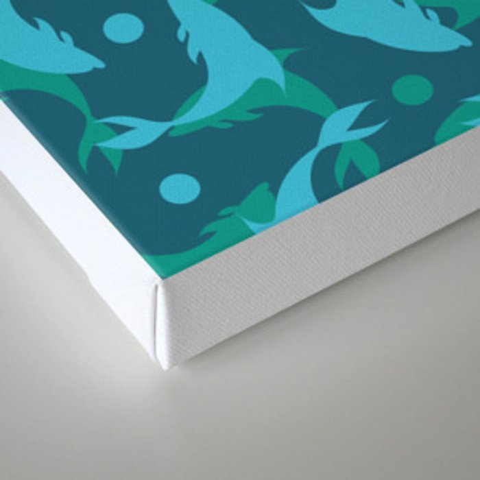 dolphins in blue Canvas Print