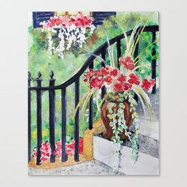 Step Flowers Canvas Print