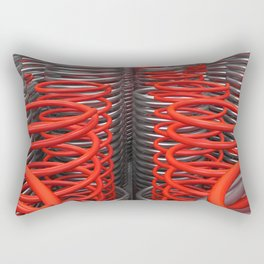 Plastic and metal springs and coils Rectangular Pillow