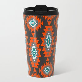 Ethnic shapes on dark background Travel Mug