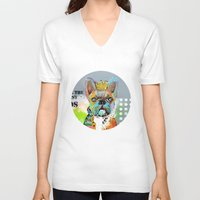 dogs V-neck T-shirts featuring Dogs... by zAcheR-fineT
