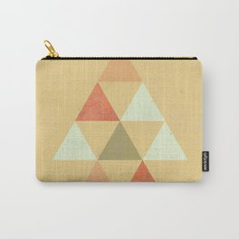 Being Mindful, Geometric Triangles Carry-All Pouch