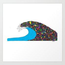 Doodle Wave Art Print