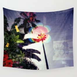 Urban double exposure Wall Tapestry