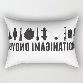 Beyond imagination: Battlestar Galactica postage stamp  Rectangular Pillow