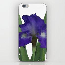 Stellar Lights, Deep blue-violet Iris iPhone Skin