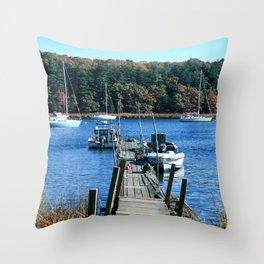 Well Worn Dock Throw Pillow