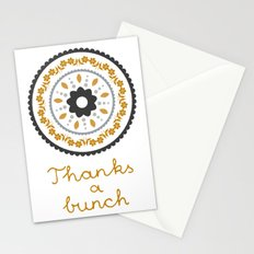 Floral suzani inspired golden centred Stationery Cards