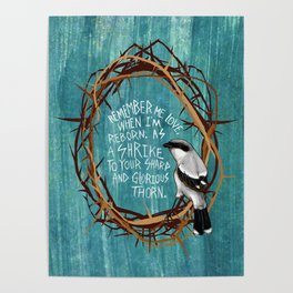 shrike with thorns Poster