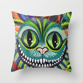 Cheshire puss Throw Pillow