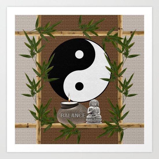The Balance of Yin Yang Art Print