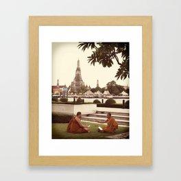 MONK TALK Framed Art Print