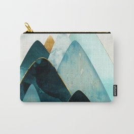 Gold and Blue Hills Carry-All Pouch