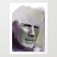 clint eastwood Art Prints featuring Clint Eastwood by Fatma