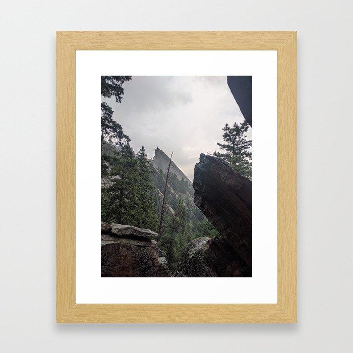 Flat Iron 1 During Rainstorm Framed Art Print