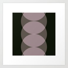#79 Ping pong – Geometry Daily Art Print
