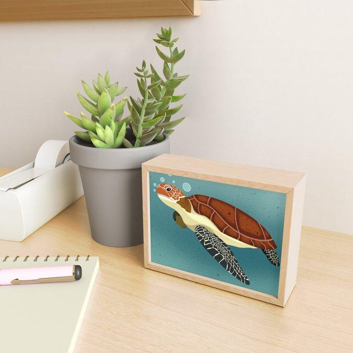 Sea Turtle Framed Mini Art Print