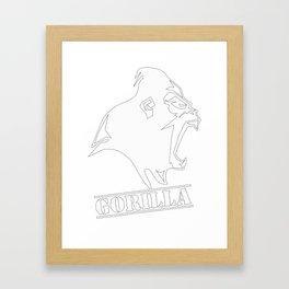 funny gorilla Framed Art Print