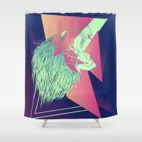 leon Shower Curtains featuring LEON z7 by Edgar Gomez UniverZ7