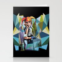 neon Stationery Cards featuring Neon by Urban Artist