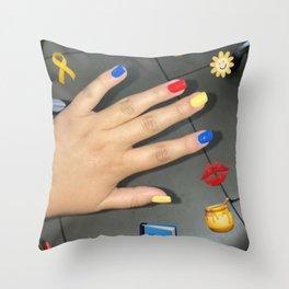 emma chamberlain inspired design Throw Pillow