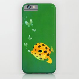Yellow boxfish iPhone Case